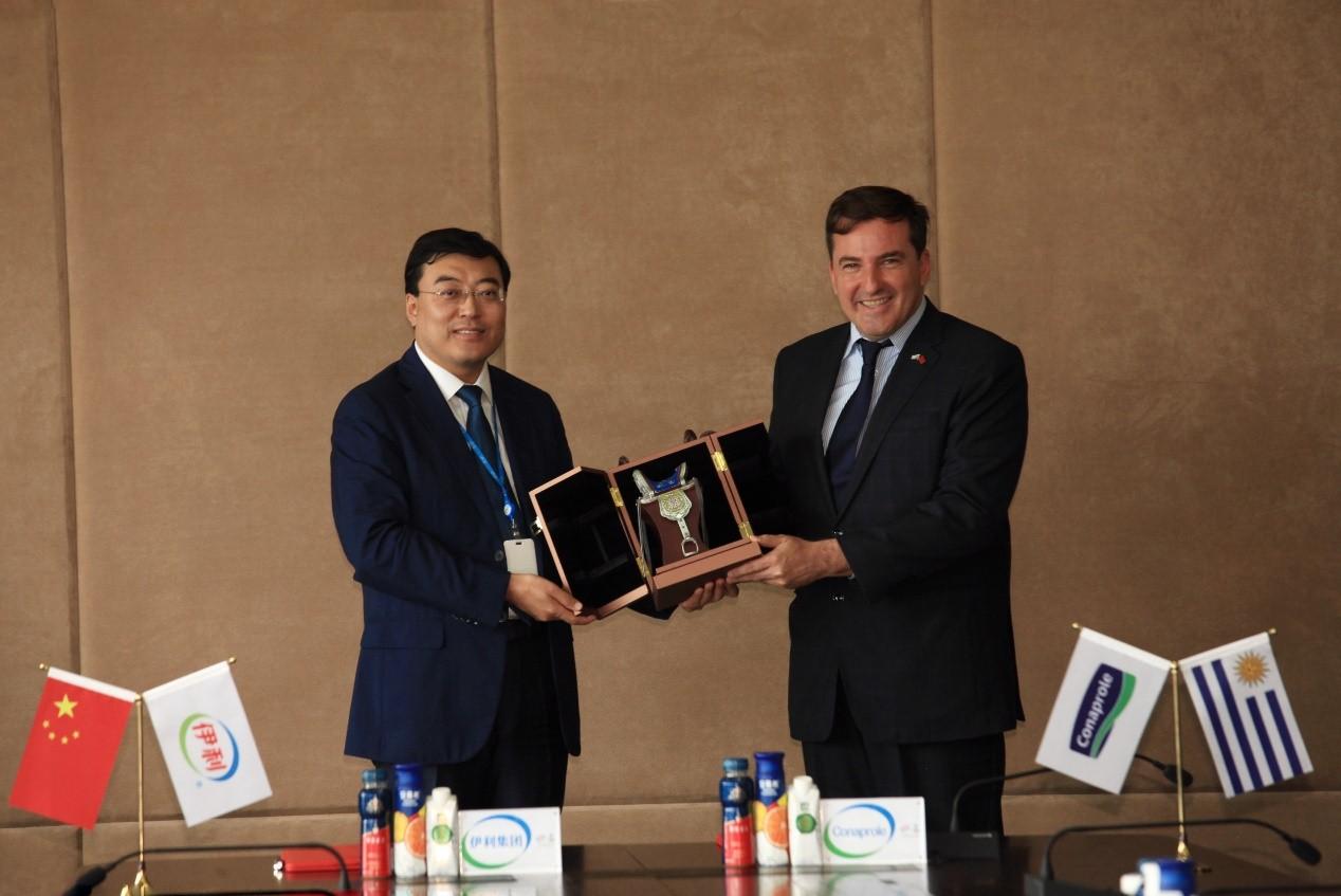 乌拉圭驻华大使考察伊利,中乌乳业深度合作