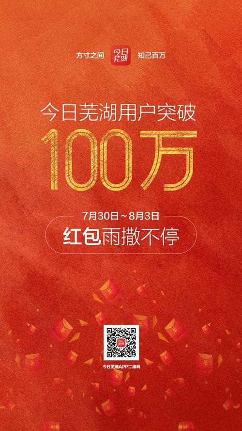 速点!今日芜湖用户突破100万 快来抢海量现金红包!