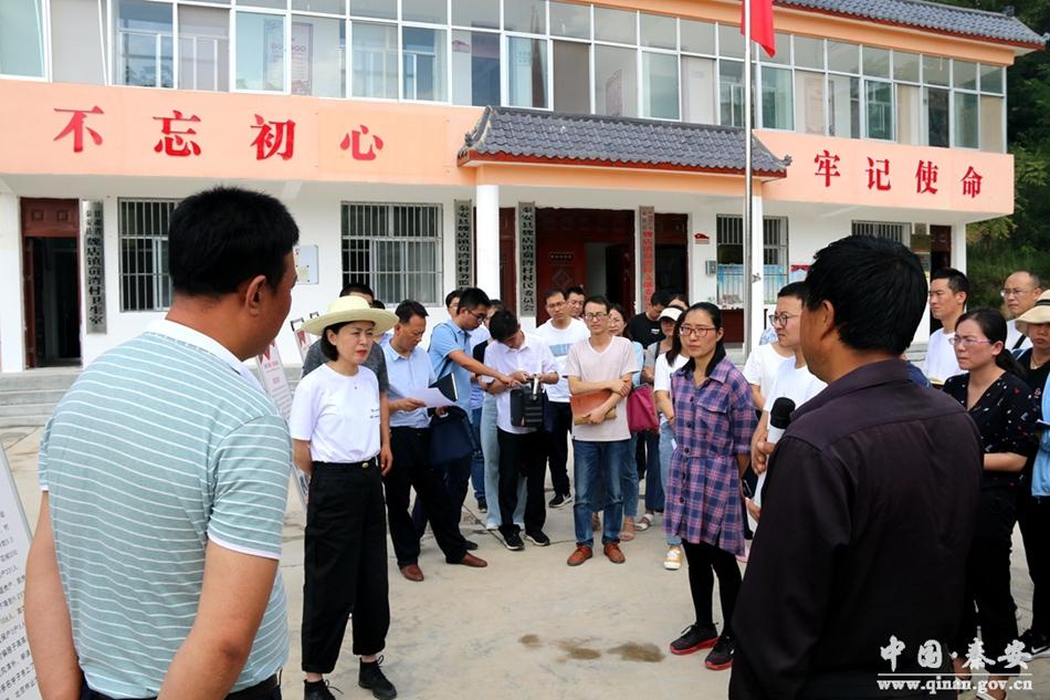 秦安县组织开展农村基层党建半年观摩活动