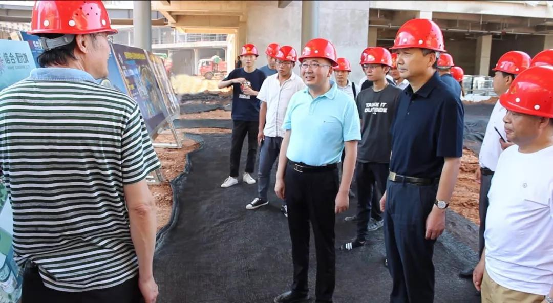 信阳市委副书记、市长尚朝阳一行调研考察信合阳光城项目