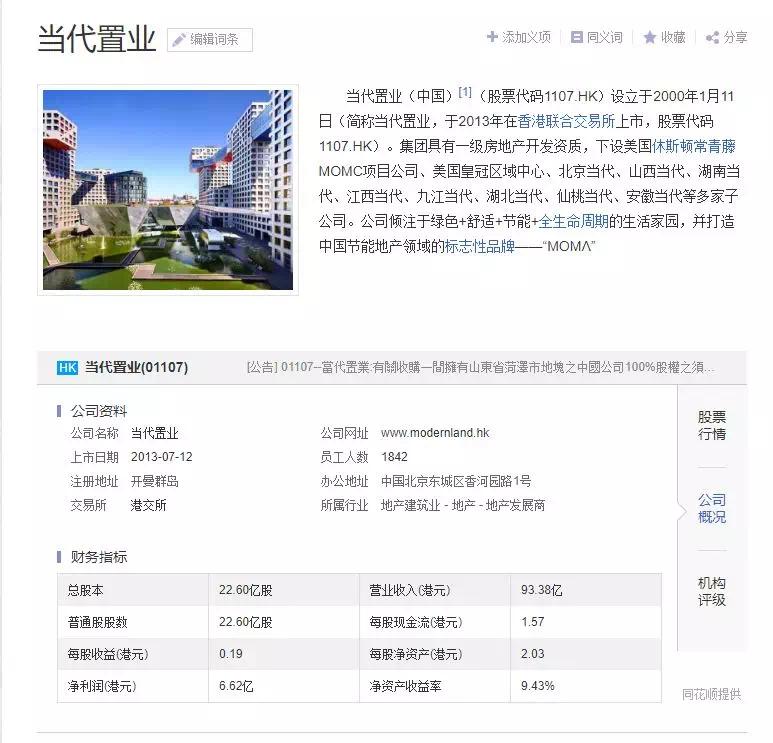 当代置业6.08亿拟收购菏泽海港花园100%股权!