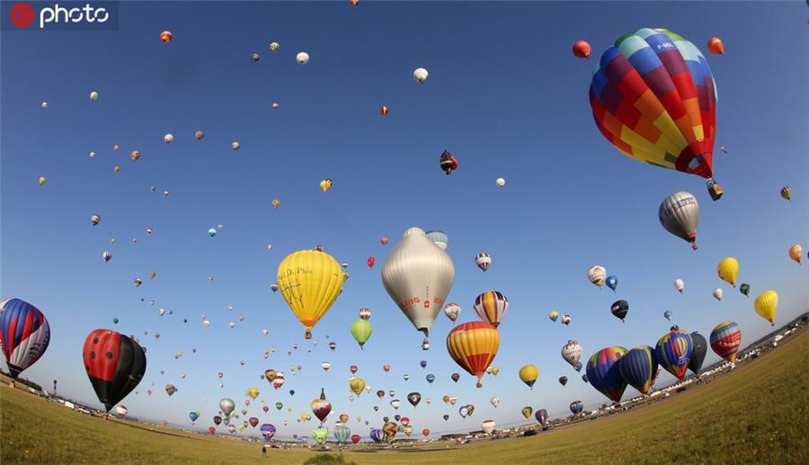 超梦幻!欧洲最大热气球节举行