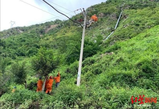 四川甘洛暴雨:甘洛县38021户用户恢复供电