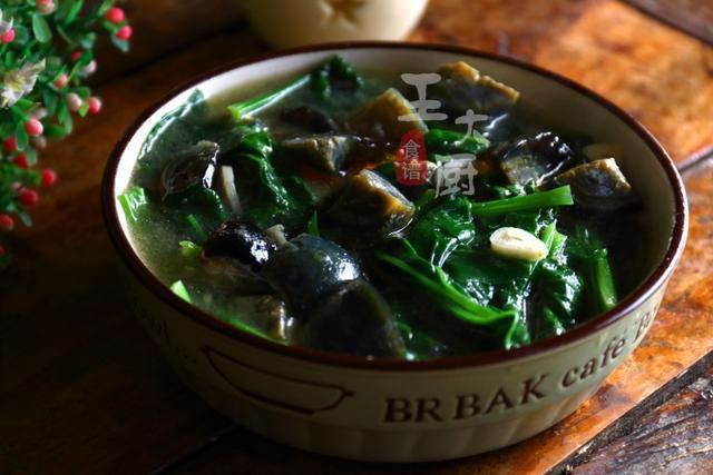 皮蛋烩菠菜要想做好吃,做法有诀窍,零厨艺也能在家轻松做