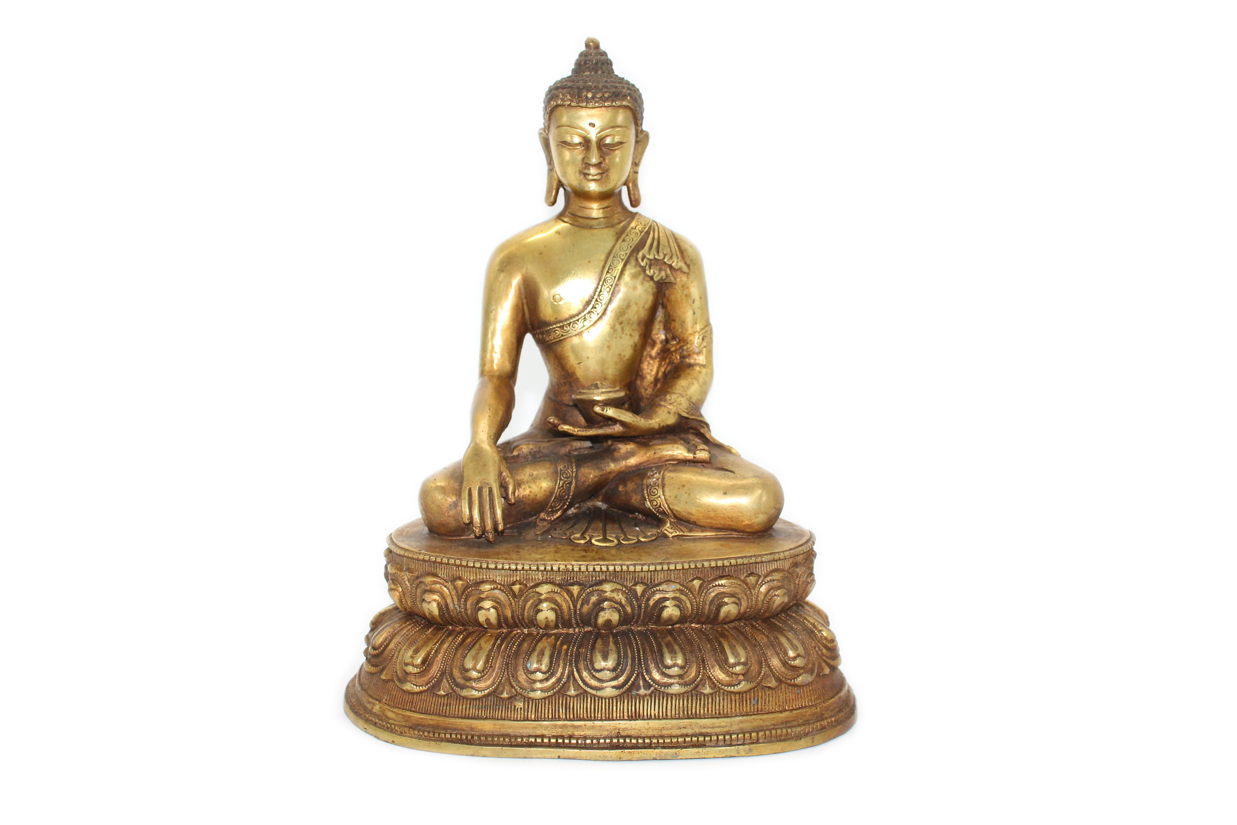 澳门秋季拍卖精品推荐----铜鎏金释迦牟尼坐像