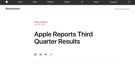 <b>苹果发布2019Q3财报:服务将是最快增长领域</b>