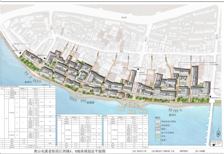黄山中心城区老街南侧地块规划方案公示 总用地面积36372㎡