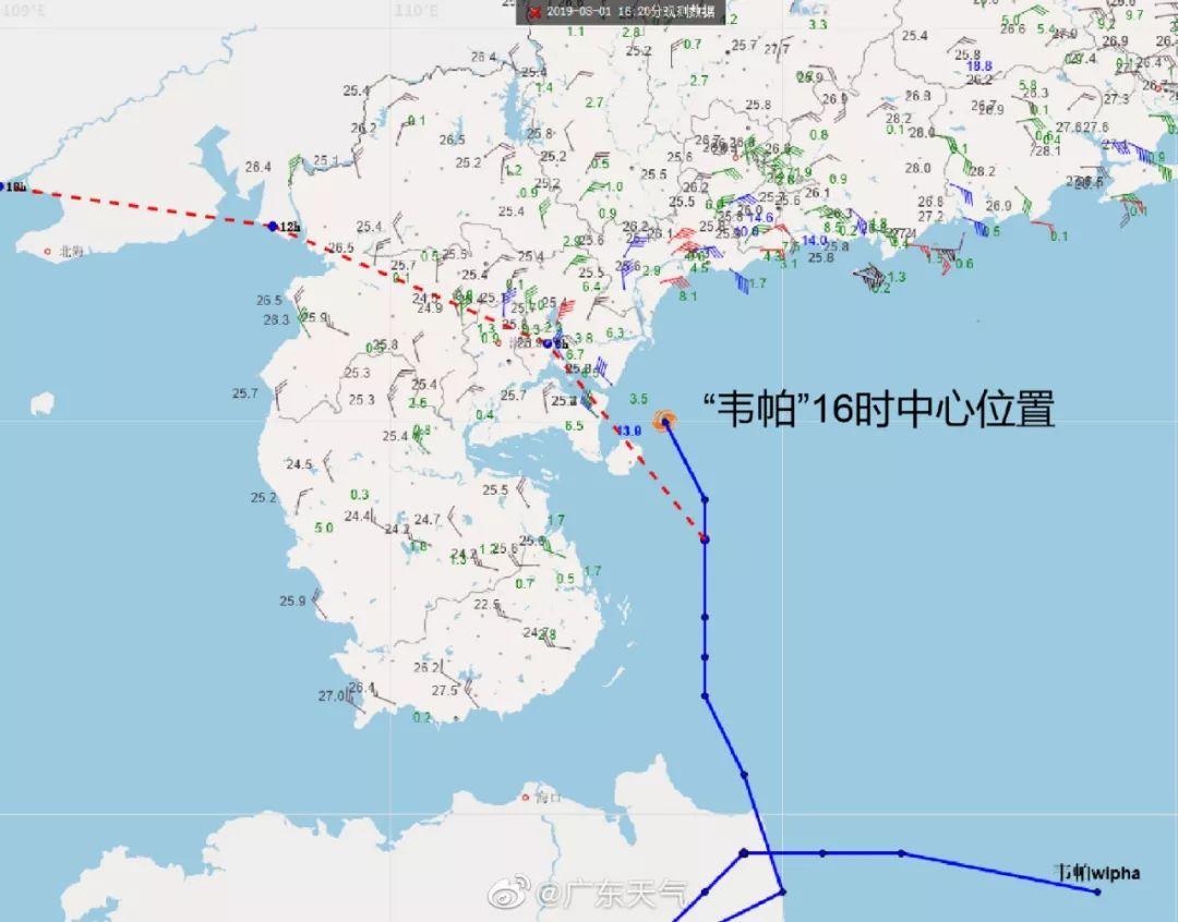 广东今年首个台风 韦帕 来了 已在湛江沿海登陆,未来三天省内多地风雨交加