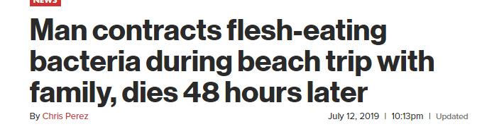 美国男子游泳后48小时后死亡,只因他做了这