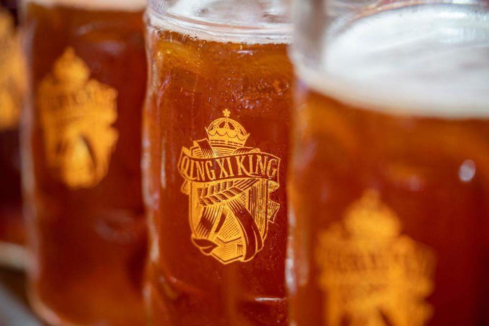 不一样的啤酒文化 青岛金沙滩啤酒城九个啤酒大篷各具特色