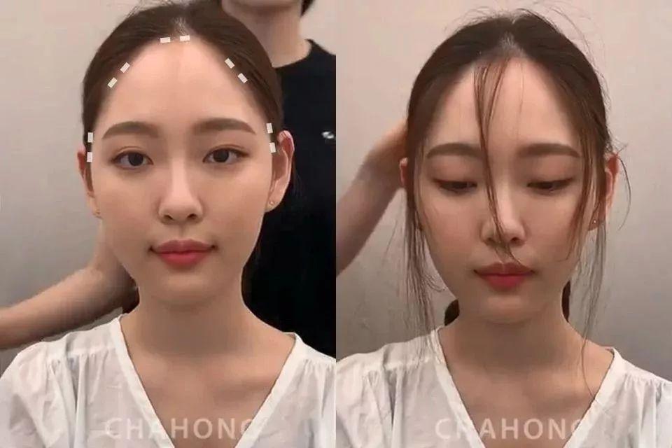 发型师解密不同脸型小脸关键,微秃女孩必学碎发发型修剪法!