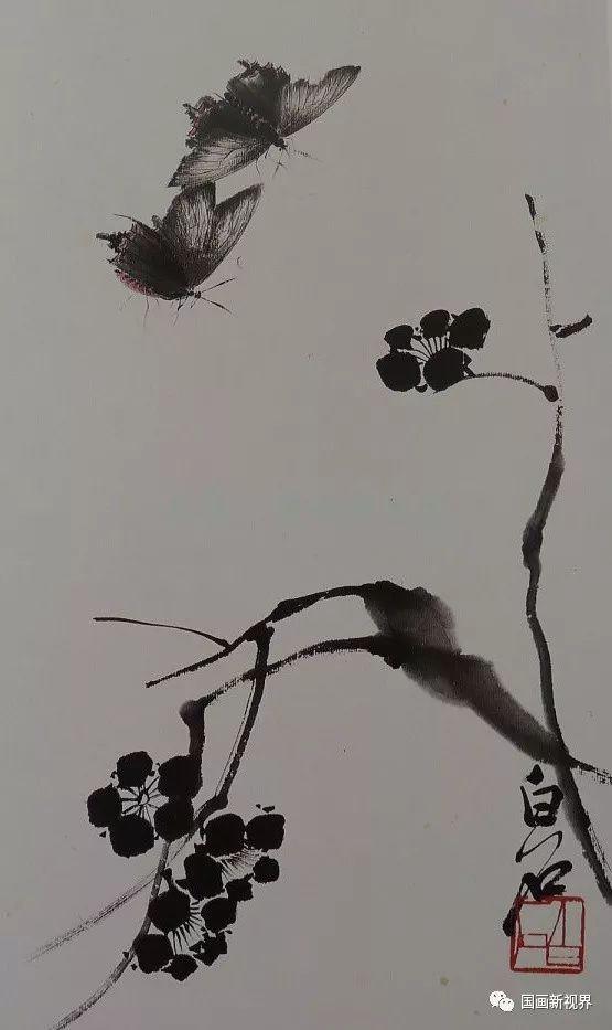 墨梅的品格_聚焦 | 丧梅:朵朵花开淡墨痕,不要人夸好颜色!_齐白石