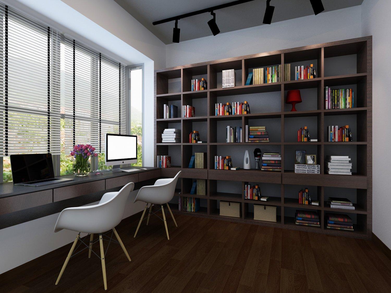 太多的才华,要一个书房,才能放得下-博康整体木作