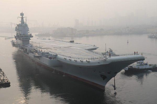 港媒关注:中国首艘国产航母进行新一轮试航