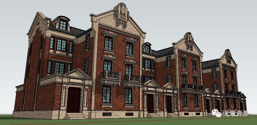 目录1038-维多利亚英式别墅su模型(清晰的细部)