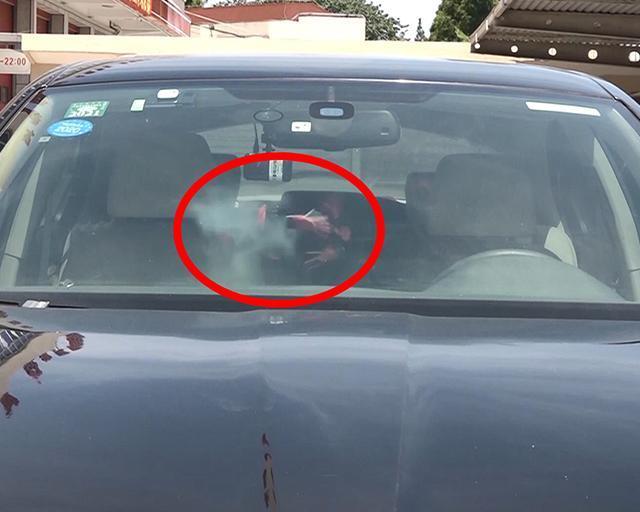 申晨间 | 阳光暴晒下的车内温度有多高?打火机15分钟就被晒爆炸了