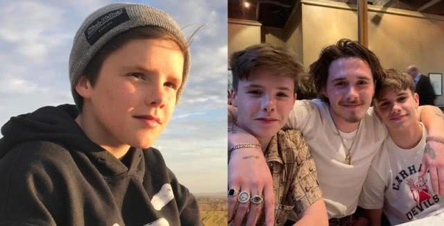贝克汉姆三个儿子都喜欢成熟型女友,三子克鲁兹高调放闪先迎七夕