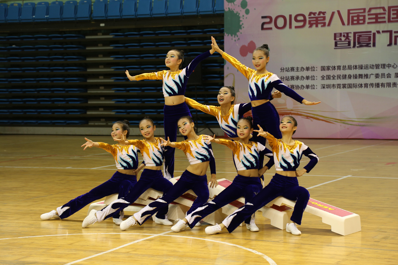 小学乙组(7-9岁),初中组,高中组,大学组,青年组,竞技健美操预备组