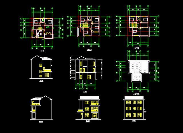 设计施工内线全套说明,500套黑别墅科技v内线结构图,详细到具体说明别墅图纸电话图片