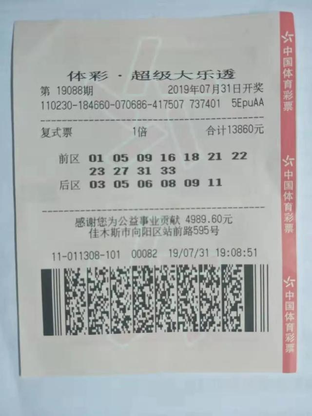<b>老婆梦到一串数字,男子照此买彩票,居然中了1532万</b>