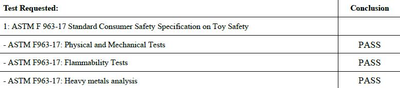 儿童玩具美国ASTM F963-17检测要求,ASTM F963测试