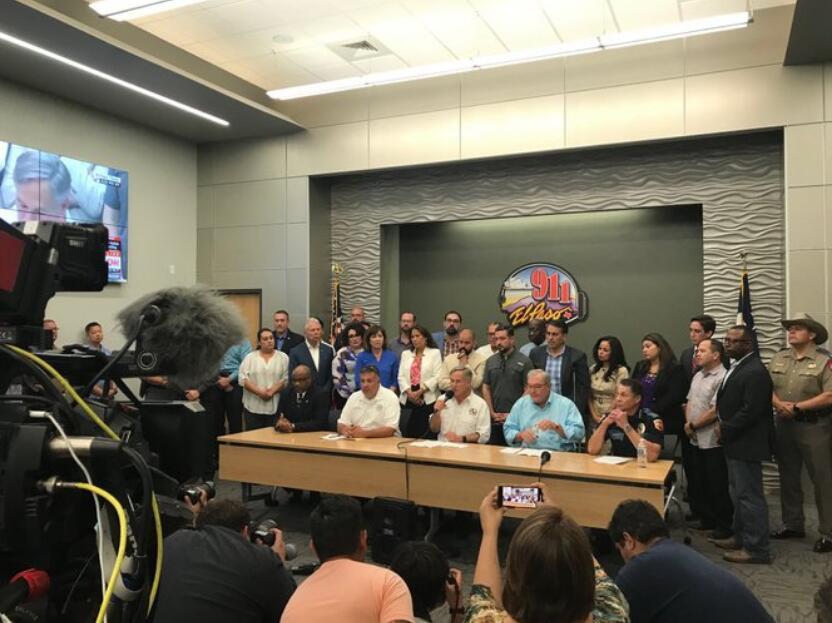 美德州举行发布会:枪击案造成20人死亡,超24伤