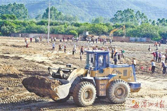 华亭镇南湖村占地40多亩的洗沙场整改到位