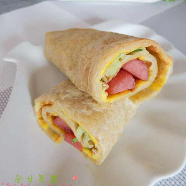 原创自制杂粮煎饼,口感丰富,香软好吃,为早餐加分