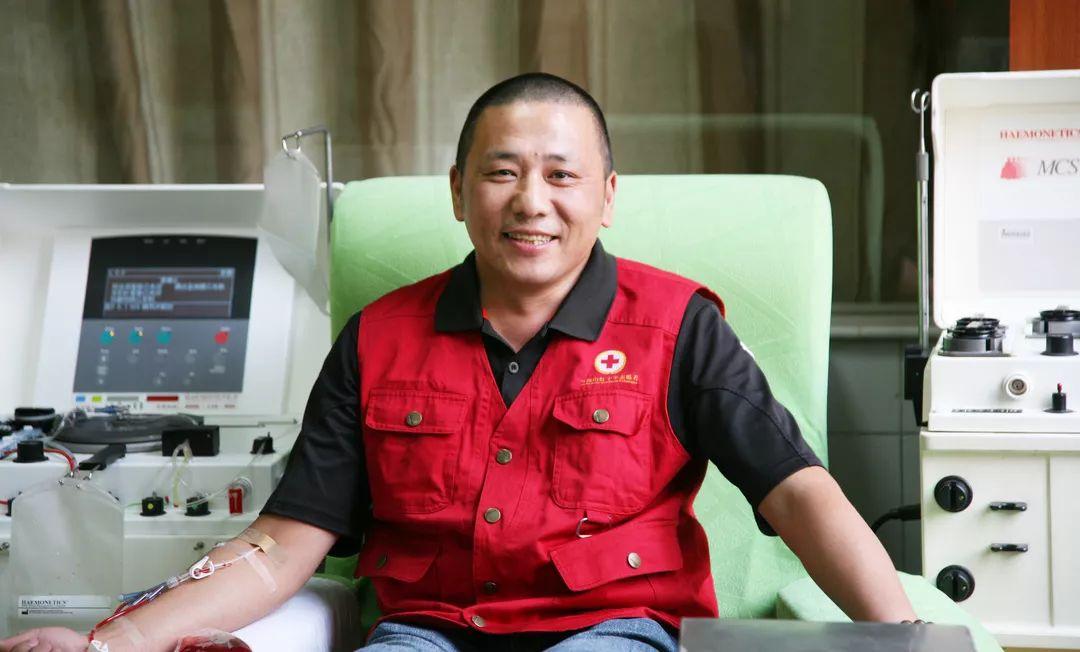 退伍老兵献血22年,本周五在马鞍山完成第100次血小板捐献!