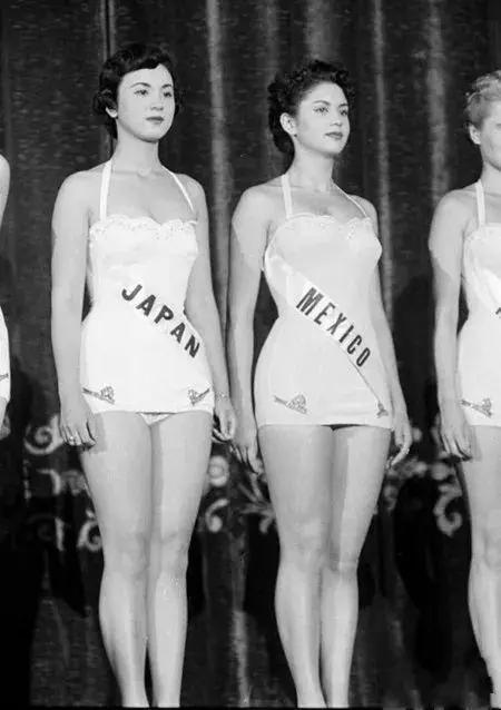 一组选美大赛老照片,日本选手确实美,前苏联选手最大胆性感