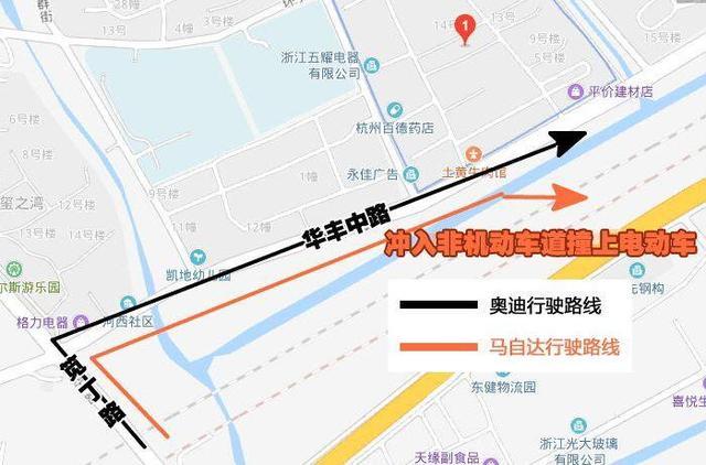 杭州街头奥迪马自达互相追逐,致无辜路人身亡!监控下的画面令人愤怒