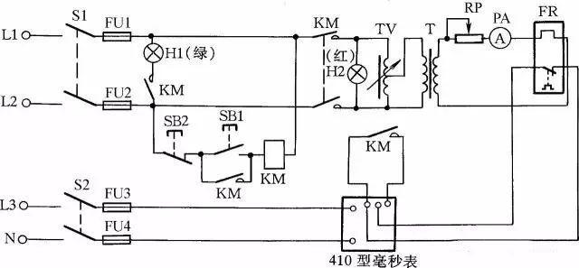 绝缘耐压测试原理_太全面了!75例自动控制原理图、接线图_变压器