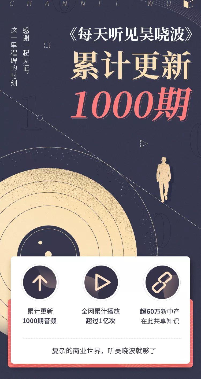 从0到1000期,一起见证这一里程碑时刻 | 每天听见吴晓波