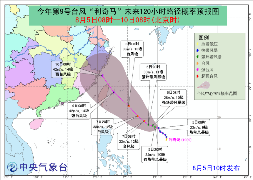 上海本周暂无高温,台风 利奇马 的 走位 存较大不确定性