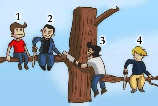 <b>心理测试:四个人,你觉得谁傻?测试你在哪些地方缺心眼儿?</b>
