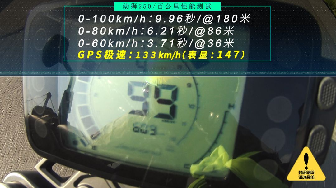 百公里加速9.96秒,骑士网实测贝纳利幼狮250加速性能