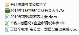 2019 最新印花税税率表大全