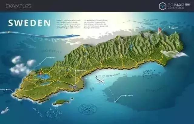 快速生成3d地图沙盘场景,构造自己设想的世界地图.