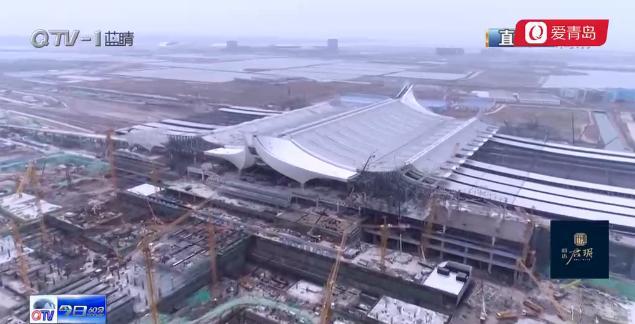 青岛三大铁路枢纽之一:红岛站站房建设进入尾声