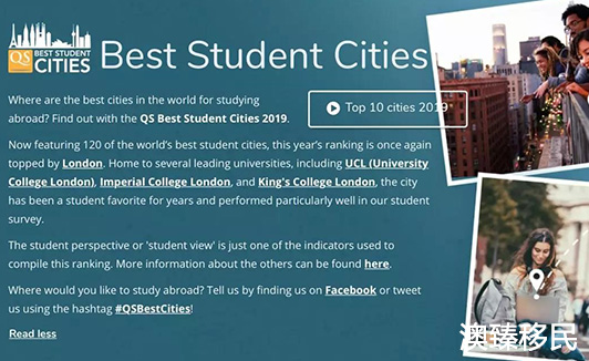 2019年全球最适合留学城市榜单出炉!澳洲6大城市强势上榜