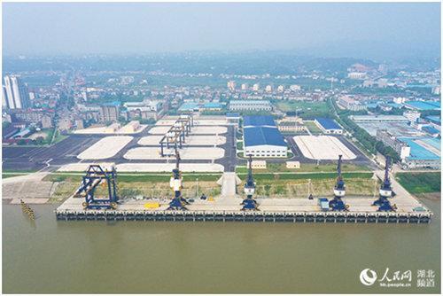 湖北宜昌港宜都港区红花套综合码头正式开港试运行