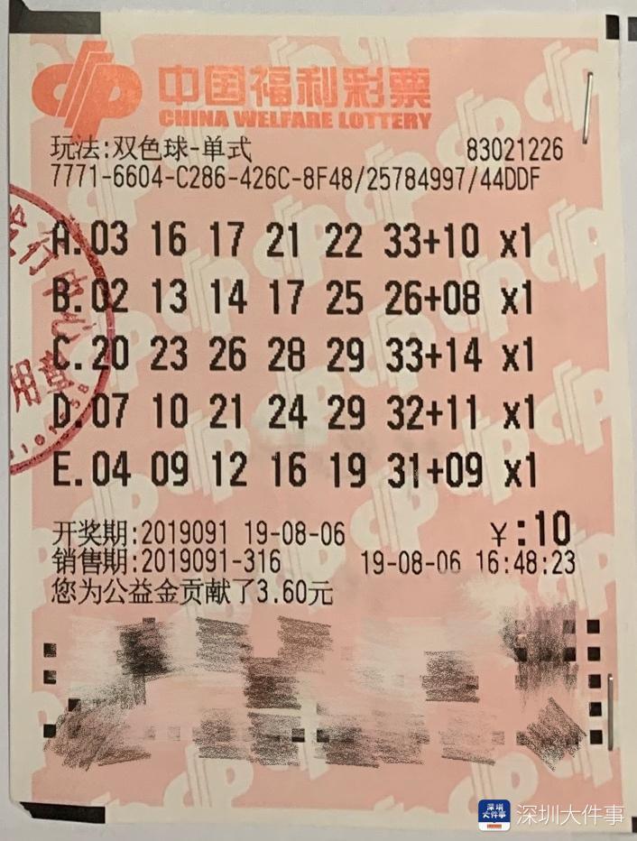 守号20多年!深圳七旬彩民捧走双色球一等奖奖金1000万
