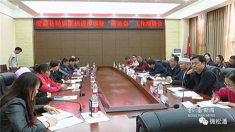 """松潘县召开民族团结进步创建""""进协会""""工作座谈会"""