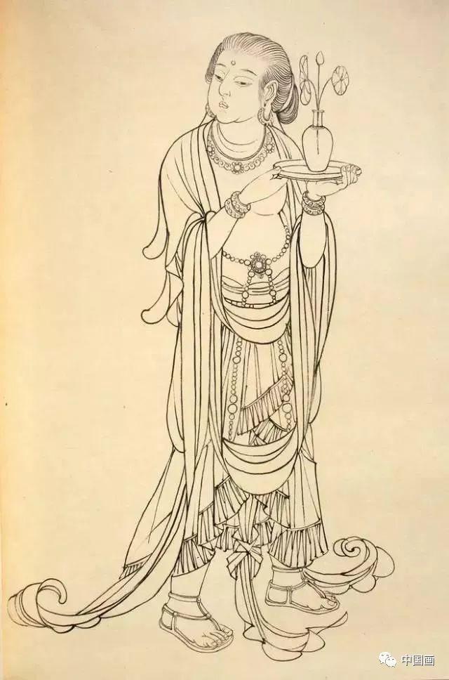 画家蔡岚手绘绝美线描稿,值得收藏!