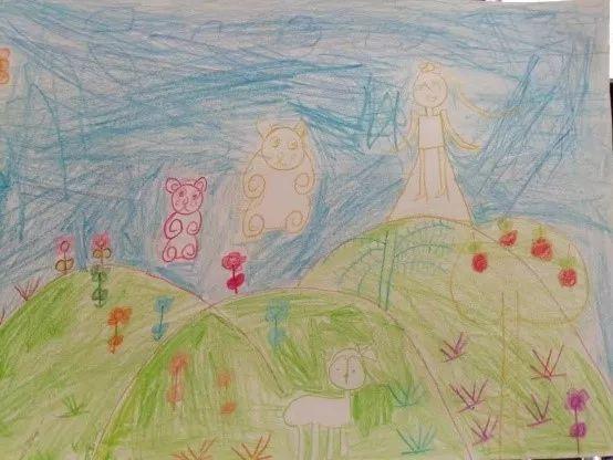 二年级孩子绘画作品.
