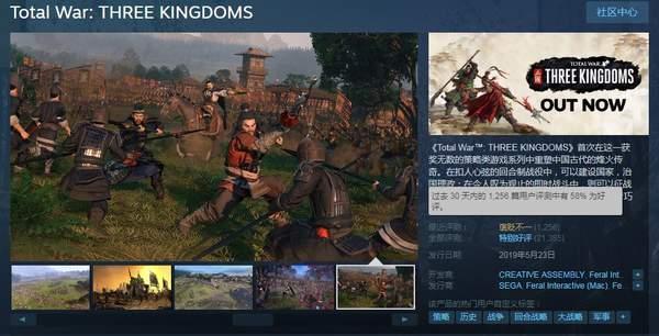 全面战争》Steam差评暴涨 好评率已降至58%