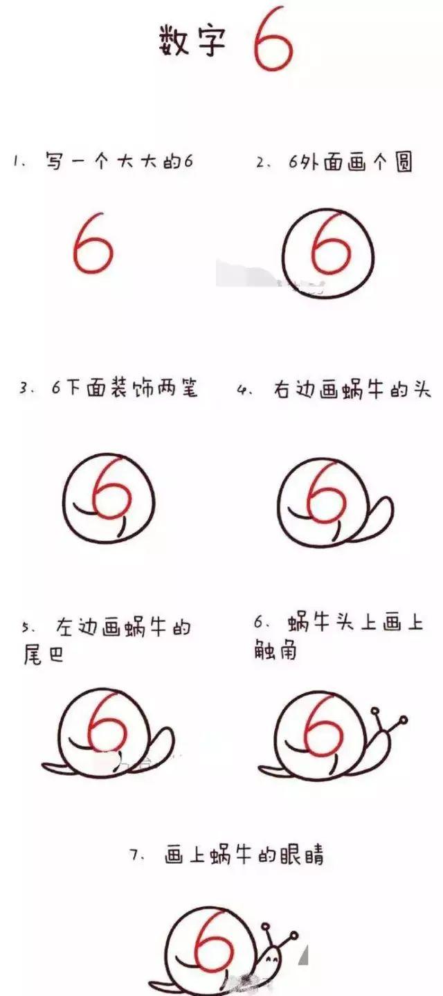 幼儿数字简笔画 1到10的简笔画流程
