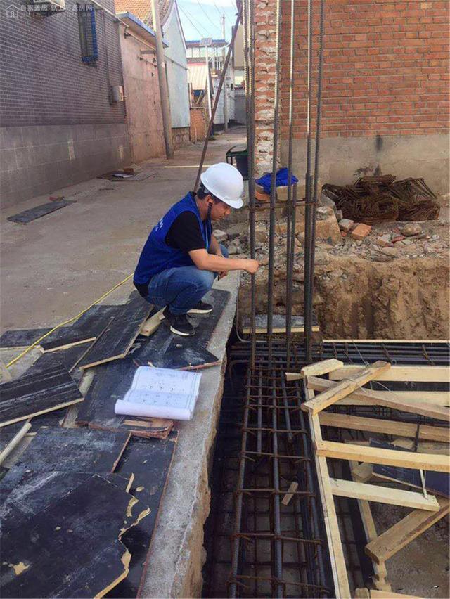 △自建新中式別墅 北立面圖 現場施工 目前本案項目,已經進入了施工圖片
