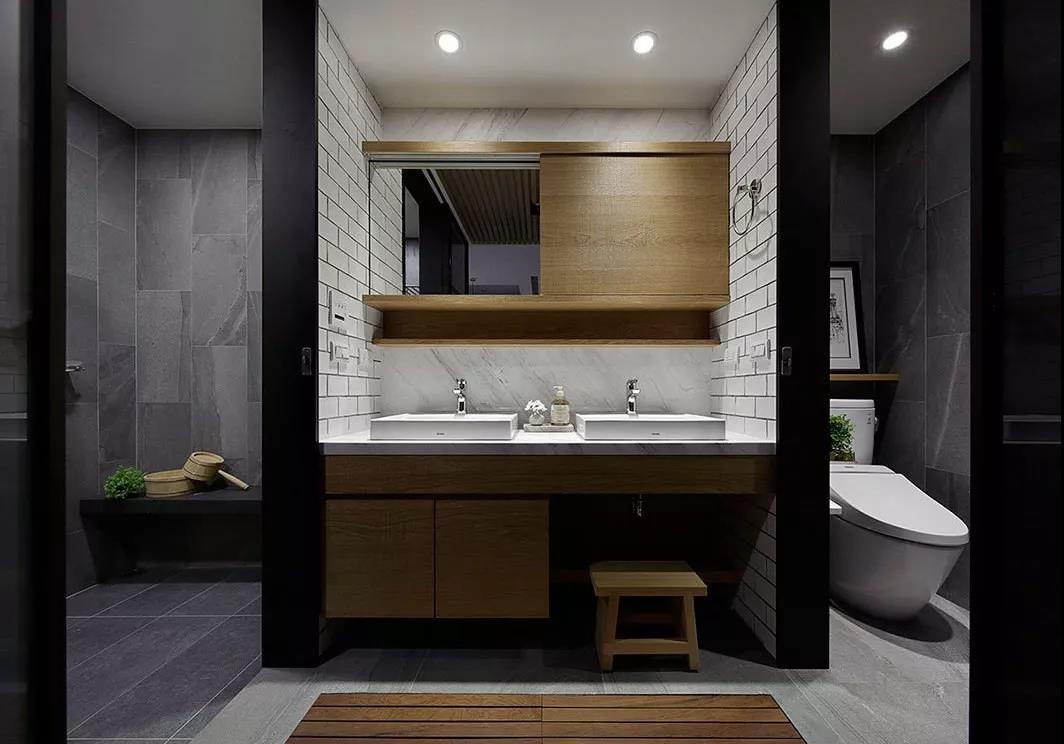 卫生间做干湿分离平面图