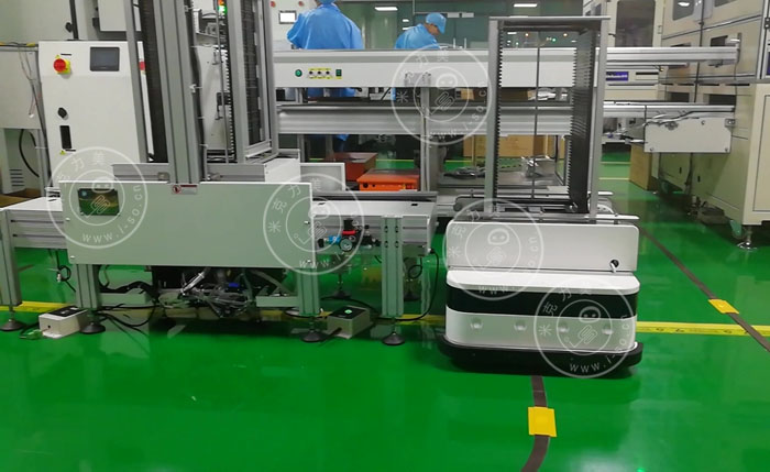 AGVS系统在柔性生产线的运行过程